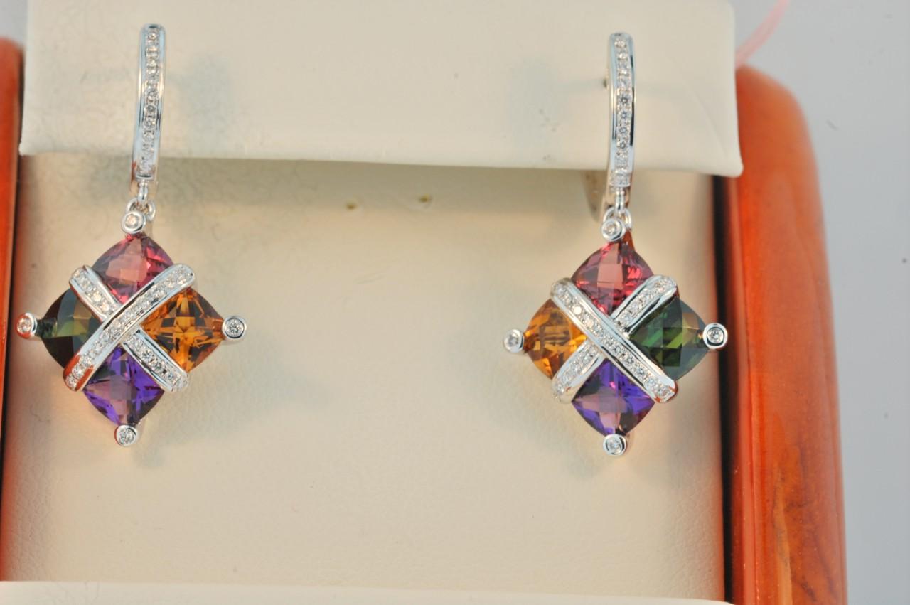 Bellari Multi Gem Earrings 1911